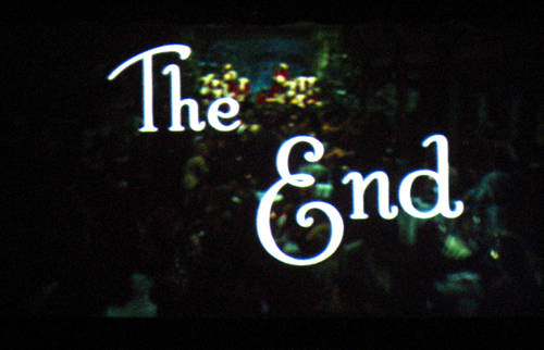 The End title from White Christmas