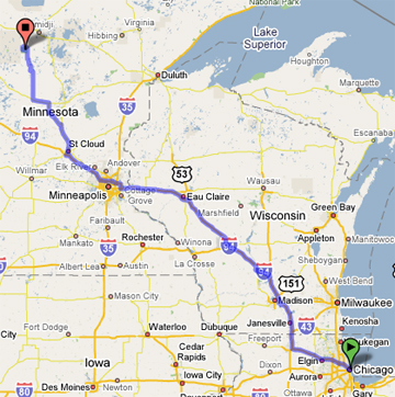 Chicago to Itasca State Park